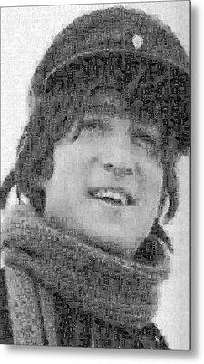 John Lennon Mosaic Image 13 Metal Print