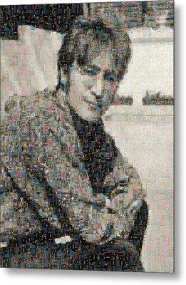 John Lennon Mosaic Image 2 Metal Print