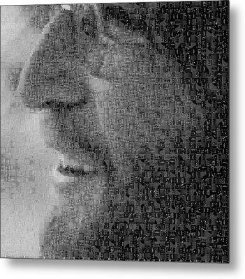 John Lennon Mosaic Image 5 Metal Print