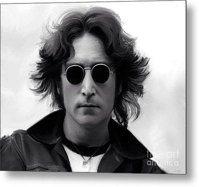 John Lennon Metal Print by Paul Tagliamonte