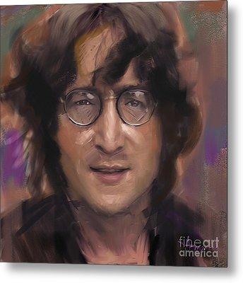 John Lennon Portrait Metal Print by Dominique Amendola