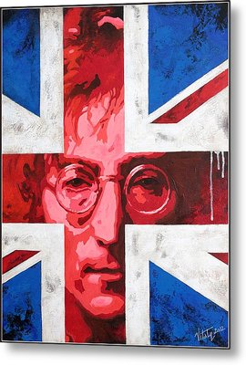 John Lennon -the Man Of Peace.the Number One Metal Print by Vitaliy Shcherbak