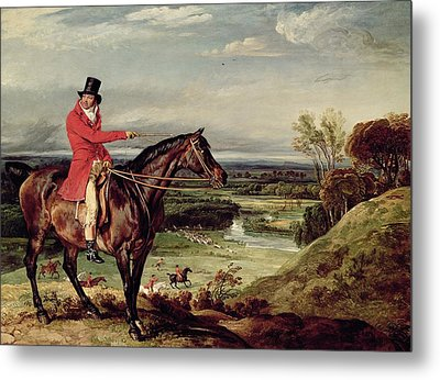 John Levett Hunting In The Park At Wychnor Metal Print by James Ward