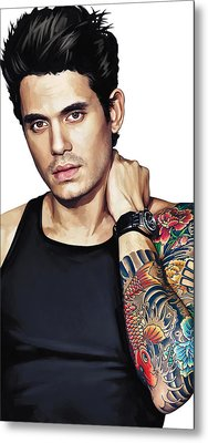 John Mayer Artwork  Metal Print