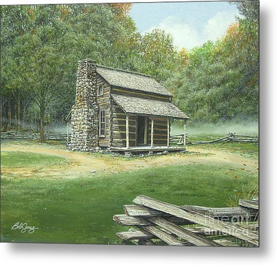 John Oliver Cabin Metal Print by Bob  George