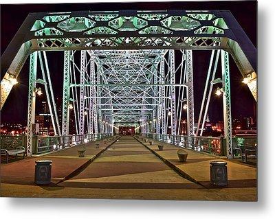 John Seigenthaler Pedestrian Bridge Metal Print