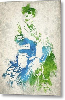 John Wayne  Metal Print by Aged Pixel
