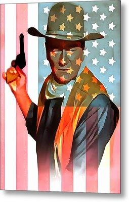 John Wayne American Icon Metal Print