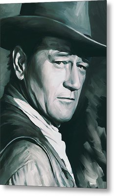 John Wayne Artwork Metal Print