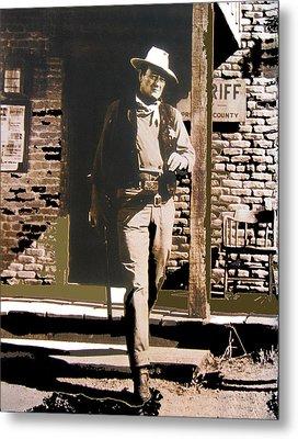 John Wayne Exciting The Sheriff's Office Rio Bravo Set Old Tucson Arizona 1959-2013 Metal Print by David Lee Guss
