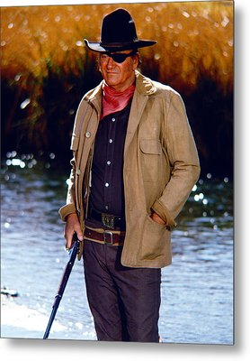 John Wayne In Rooster Cogburn  Metal Print by Silver Screen