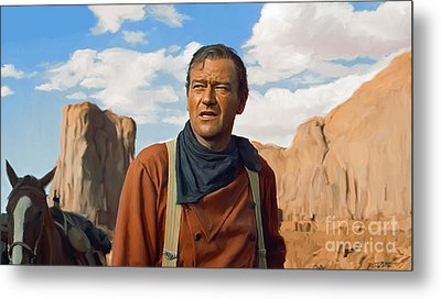 John Wayne Metal Print by Paul Tagliamonte
