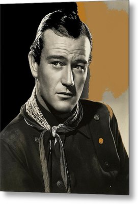 John Wayne  Publicity Photo In Costume Stagecoach 1939-2009 Metal Print by David Lee Guss