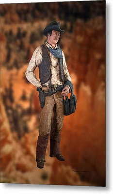 John Wayne The Cowboy Metal Print by Thomas Woolworth