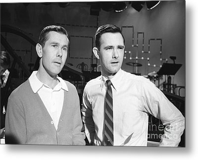 Johnny Carson With His Brother Dick Carson 1963 Metal Print by The Harrington Collection
