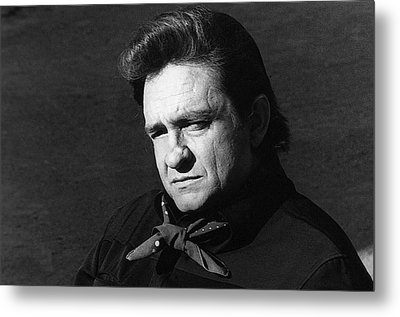 Metal Print featuring the photograph Johnny Cash Close-up The Man Comes Around Music Homage Old Tucson Az  by David Lee Guss