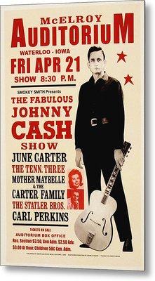 Johnny Cash Concert Poster Metal Print