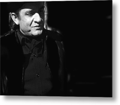 Metal Print featuring the photograph Johnny Cash Film Noir Homage Old Tucson Arizona 1971 by David Lee Guss