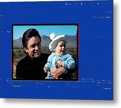 Metal Print featuring the photograph Johnny Cash John Carter Cash Old Tucson Arizona 1971 by David Lee Guss
