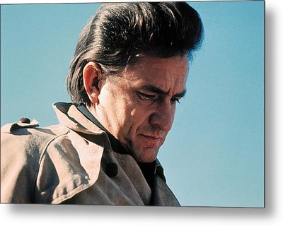 Metal Print featuring the photograph Johnny Cash  Music Homage Ballad Of Ira Hayes Old Tucson Arizona 1971 by David Lee Guss