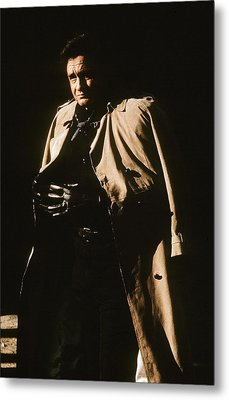 Metal Print featuring the photograph Johnny Cash Trench Coat Variation  Old Tucson Arizona 1971 by David Lee Guss