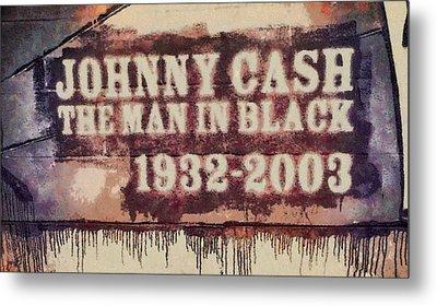Johnny Cash Tribute Metal Print