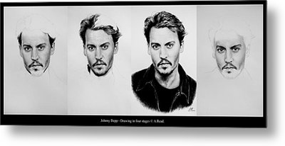 Johnny Depp 4 Metal Print by Andrew Read