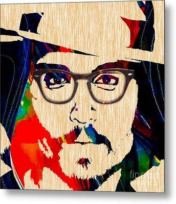 Johnny Depp Collection Metal Print