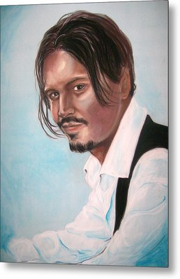 Johnny Depp Metal Print by Martha Suhocke