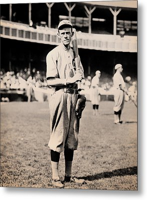 Johnny Evers 1910 Metal Print by Mountain Dreams