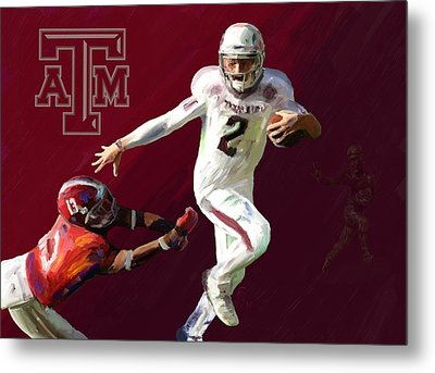 Johnny Football Metal Print