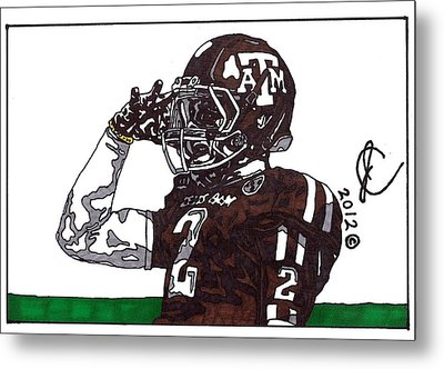 Johnny Manziel The Salute Metal Print by Jeremiah Colley
