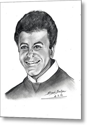 'johnny Mathis' Metal Print by Barb Baker