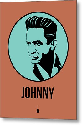 Johnny Poster 1 Metal Print by Naxart Studio