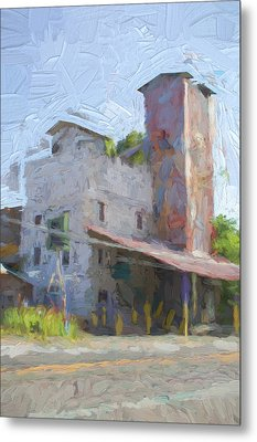 Johnson City Texas Old Feed Mill Metal Print by JG Thompson