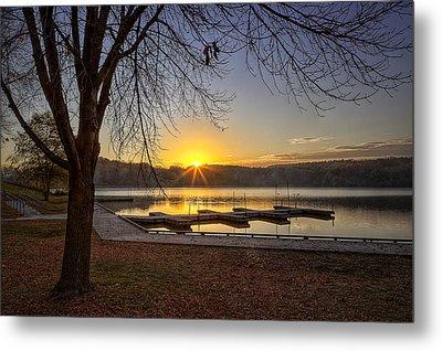 Johnson Lake Sunrise Metal Print