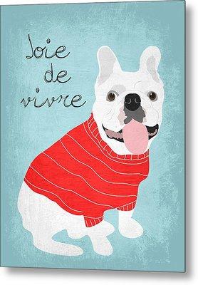 Joie De Vivre French Bulldog  Metal Print