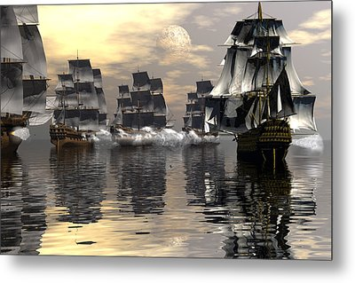 Metal Print featuring the digital art Joining The Fray by Claude McCoy