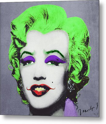 Joker Marilyn Metal Print by Filippo B