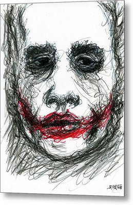 Joker - Not All Jokes Are Funny Metal Print by Rachel Scott