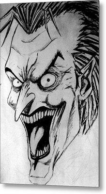 Metal Print featuring the painting Joker by Salman Ravish