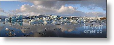 Jokulsarlon Glacier Lagoon Panorama Metal Print