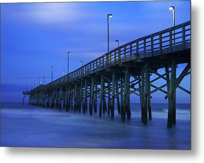 Jolly Roger Pier After Sunset Metal Print by Mike McGlothlen