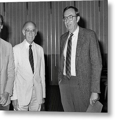Jonas Salk And Frederick Murphy Metal Print