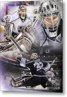 Jonathan Quick Collage Metal Print by Mike Oulton