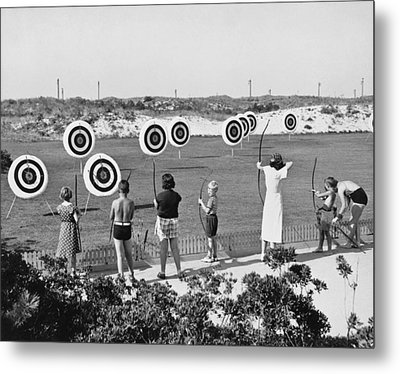 Jones Beach Archery Range Metal Print