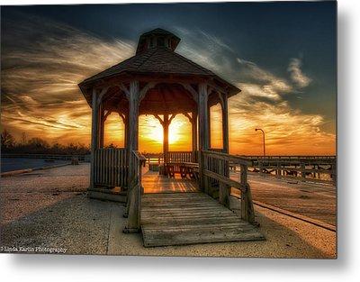 Metal Print featuring the photograph Jones Beach Sunset On Long Island New York by Linda Karlin
