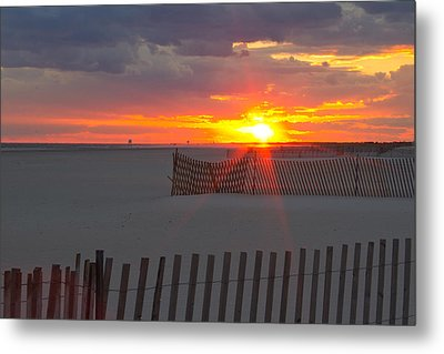 Metal Print featuring the photograph Jones Beach Sunset One by Jose Oquendo