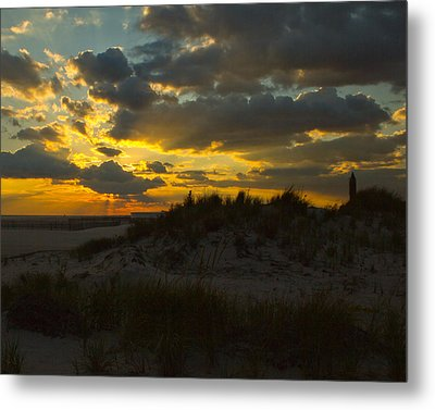 Metal Print featuring the photograph Jones Beach Sunset Two by Jose Oquendo