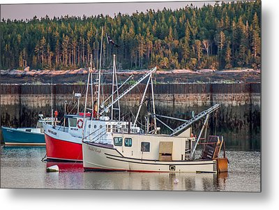 Metal Print featuring the photograph Jonesport Maine  by Trace Kittrell